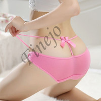2014 New Sexy Lady Lingerie Underwear Bandage Hollow Thong Panty G-String Briefs Knickers SV006424