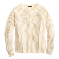 J.Crew Womens Collection Chunky Pointelle Sweater