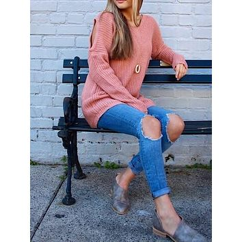 Cabin Fever Sweater | Blush
