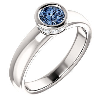 Bezel setting 1.76 ct. round halo diamonds solitaire style ring white gold 14K