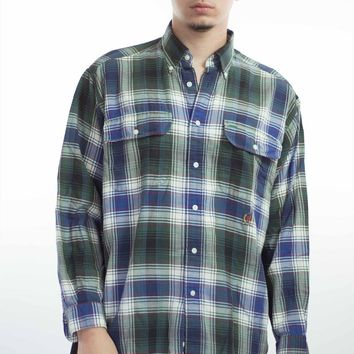 Vintage Tommy Hilfiger Checked Flannel Shirt 90s M 9.1