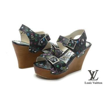 Louis Vuitton Women Fashion Platform Heels Sandals Shoes-2