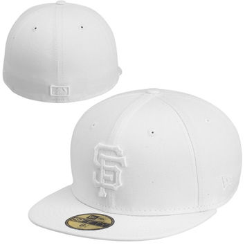 New Era San Francisco Giants White On White 59FIFTY Fitted Hat - White