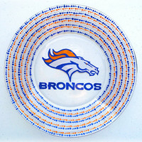 Denver Broncos NFL Dinner Plate - Custom Sports Teams - Football