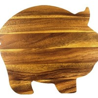 Ironwood Gourmet Pig Shaped 10.25-Inch by 8.5-Inch Cutting Board