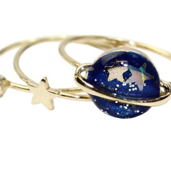 Fashion and personality universe stars zircon joint ring , a perfect gift