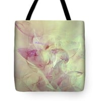 Wild Orchids Abstract Tote Bag