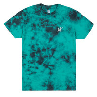 HUF WORLDWIDE - SMALL SCRIPT CRYSTAL WASH TEE SUM14 // JADE