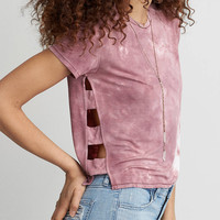 AEO Soft & Sexy Side Bar T-Shirt, Plum
