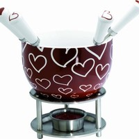 Mastrad Chocolate Fondue Set, Hearts
