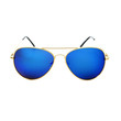 Large Premium Polarized Anti Glare Mirror Lens Gold Metal Aviator Sunglasses A1550