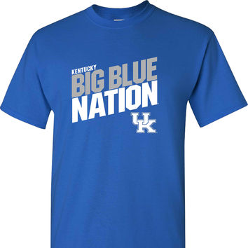 Big Blue Nation UK on a Blue Short Sleeve T Shirt