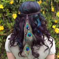 Peacock Feather Headband #B1055