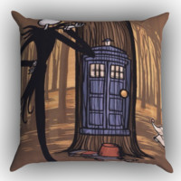 Jack Skellington Tardis X1077 Zippered Pillows  Covers 16x16, 18x18, 20x20 Inches