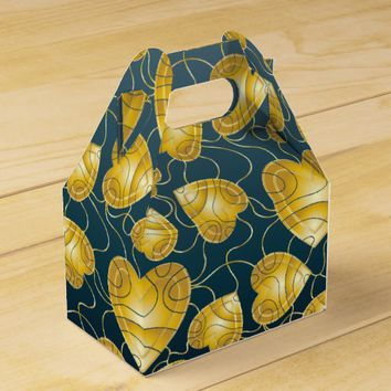 Golden Hearts Pattern Favor Box