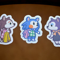 21 pack Able Sisters Animal Crossing stickers.