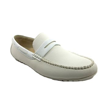 Mens Scans Moccasin Penny Loafers Casual Shoes 68320 Cream