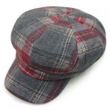 Chic Checkered Pattern Casual Style Newsboy Hat For Women