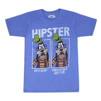 Disney Hipster Goofy Men's Blue T-shirt