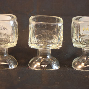 Shot Glass Upcycled from 50 ml Glass Patron Liquor Bottle, ONE Goblet Shot Glass, Recycled Bottle