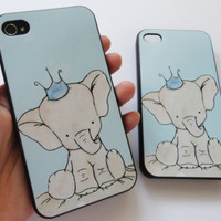 SALE 80-20%OFF: Very Cute Little Elephant  iPhone 4 and iPhone 5 protective cases