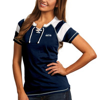 Seattle Seahawks Antigua Women's Score T-Shirt – College Navy