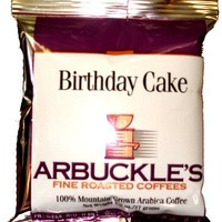 Arbuckle's Fine Roasted Coffee, Birthday Cake, Ground Coffee, 1.3-Ounce Bags (Pack of 30)