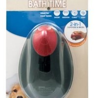 Four Paws Magic Coat 2-in-1 Dog Brush & Shampoo Dispenser