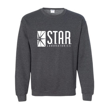 STAR Labs Sweatshirt Star Laboratories S.T.A.R. Lab The Flash Sweater Sweatshirt Crew Neck Crewneck Pullover Unisex