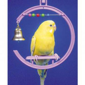 Penn Plax Plastic Swing with Beads Bell