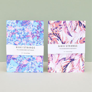 'Purple Pastel' Set of 2 A5 Notebooks With Lined Pages by Nikki Strange