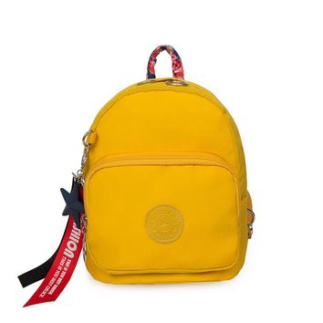 Fashion Little Girl Travel Bags Letter Ribbons Yellow Boy Cute Rucksack f Small Backpack