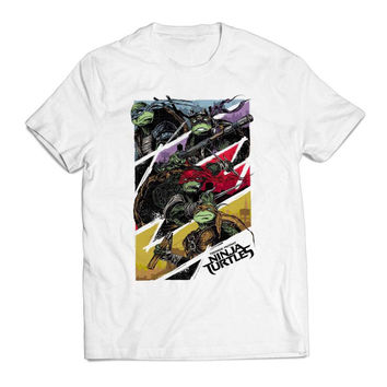 TMNT Poster Movie Clothing T shirt Men