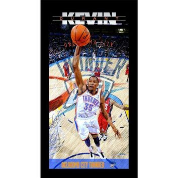 DCCKU7Q Kevin Durant Oklahoma City Thunder Player Profile Wall Art 9.5x19 Framed Photo