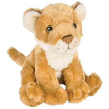 8 Inch Cougar or African Lioness Lion Cub Stuffed Animal Plush Floppy Zoo Species Collection