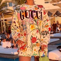 GUCCI Women's Fashion Print Top T-Shirt
