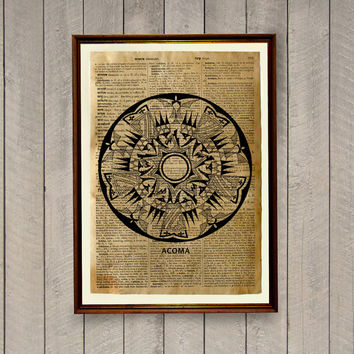 Native American poster Tribal print  Rustic decor