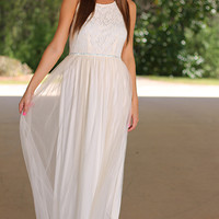 Fabulous Fairy Maxi Dress, Ivory