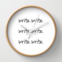 The Usual Advice for a Writer Wall Clock by Kat Mun