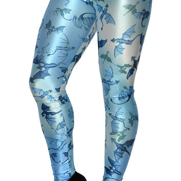 Blue Lots of Dragons Leggings Design 275