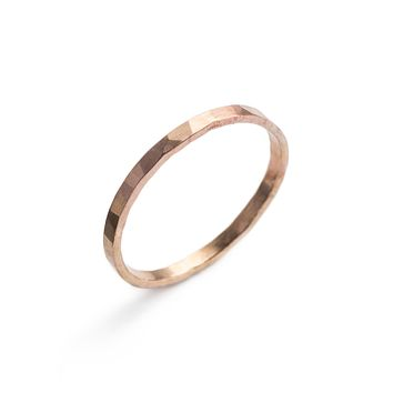 Faceted Gold ring - sliding scale