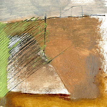 BRINKLOW MOUND - Instant Download - Fine Art - Landscape Drawing - Collage and Oil Painting - Abstract Painting - Digital File
