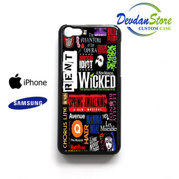 broadway musical collage Case for iPhone, iPod, Samsung Galaxy,HTC,LG,Sony,Nexus,Blackberry