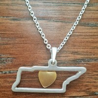 TENNESSEE STATE PENDANT NECKLACES!