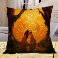 The Lion King on square pillow cover 16inch 18inch 20inch