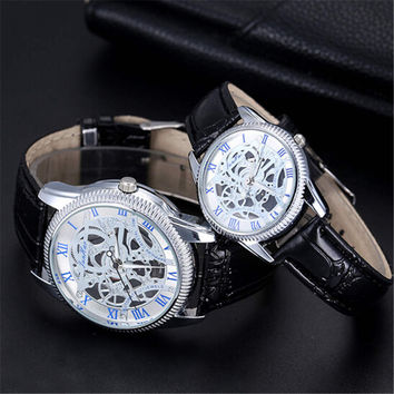 Lover Leather Strap Watches Casual Sports Watch for Couple Best Christmas Gift