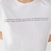 Project Social T Better Yourself Tee | Urban Outfitters
