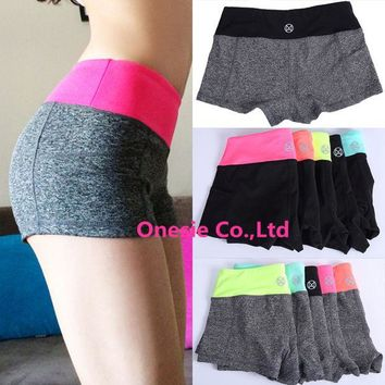 DCCK7N3 Women Sports Fitness Yoga Shorts For Workout Run Slimming Beach Hiking Female Running Ladies High Waist Gym Cycling Sport Short