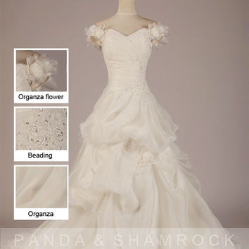 Tara/wedding gown/women clothing/dress/long/lace/tulle/elegant/custom made/ALL SIZE