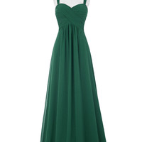 Elegant Long Emerald Green Evening Dresses 2016 Robes De Soiree Longue Black Royal Blue Purple White Wedding Dinner Dress